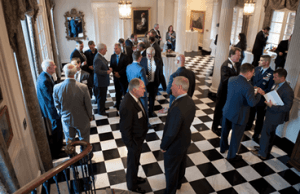 Gov. Haslam hosted members of the Tennessee Aerospace and Defense Advisory Board at a reception at the Tennessee Residence in July.
